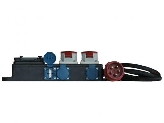 Mobile Strom-Unterverteilung mit Anschluss 32A CEE-Rot; 2x 16A CEE-Rot, 6x Schuko (LS) mieten