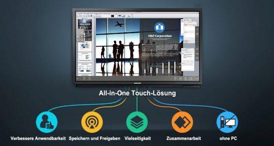 65 Zoll Multi-Touch Display - Samsung DM65E-BC mieten